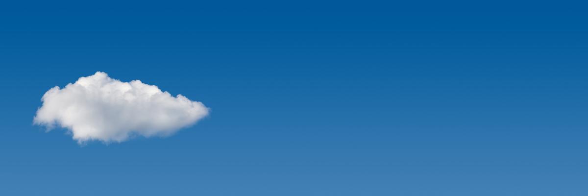 blue sky cloud banner