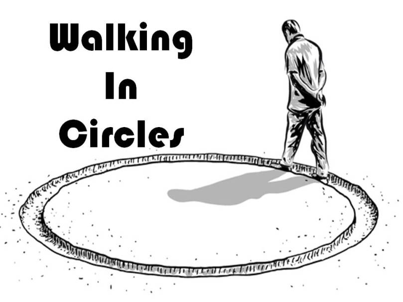 walking in circles